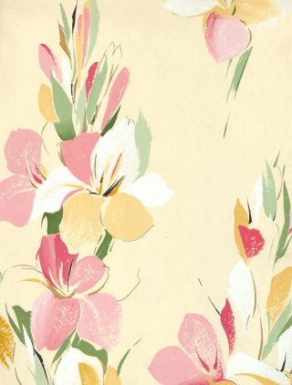 Island Florals in Beige. Jacques Laplace