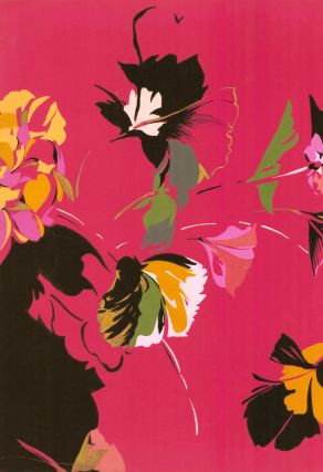 Island florals, in magenta. Jacques Laplace