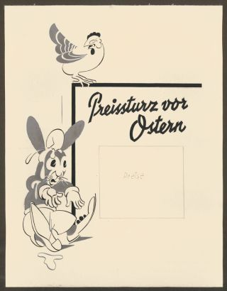 Easter Sale Advertisement. Entwurfe [Design Portfolio]. H. Seifert.