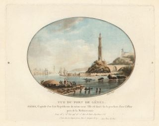 Vue du Port de Genes [Port of Genoa]. Laurent Guyot