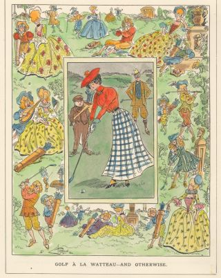 Golf a la Watteau--And Otherwise. Punch, or The London Charivari. C. Harrison, Punch, The London...