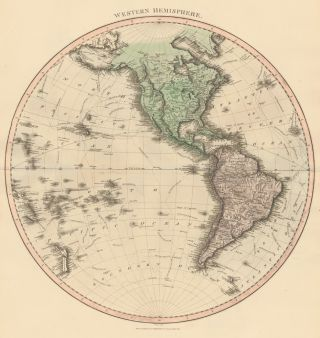 Western Hemisphere [North and South America, New Zealand]. Thomson's New General Atlas. John Thomson