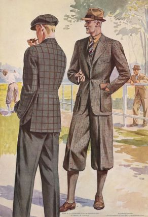 Men dressed for the golf course. Jean Darroux.