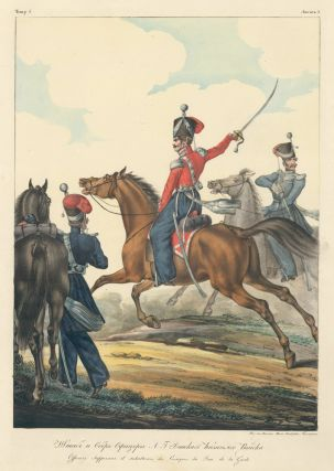 Officers of the Don Cossacks army. Collection des Uniformes de l'Armee Imperiale Russe. Lev...