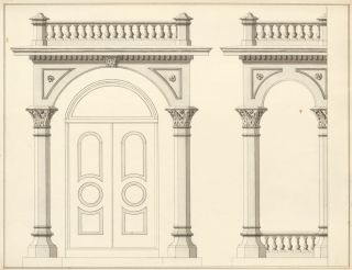 Pilaster Design for a Doorway. American School.