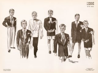 Boys formal wear for Spring of 1952. L'Homme. Zveg.