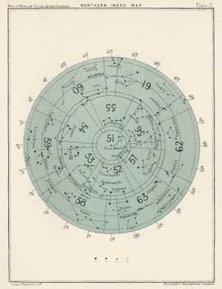 Northern Index Map. A Popular Guide to the Heavens. Robert Stawell Ball