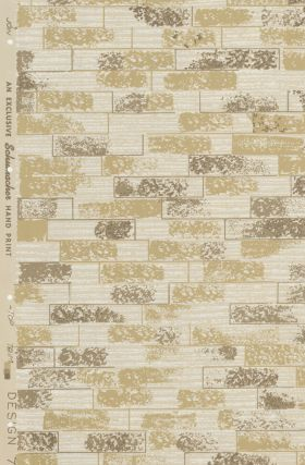 Design 704 Wallpaper Samples. Schumacher's Taliesin Line of Decorative Fabrics and Wallpapers Designed by Frank Lloyd Wright.