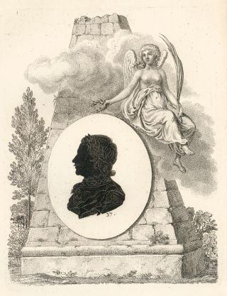 Emperor Peter I, Russia. Collection de Cent Silhouettes des Personnes Illustres et Célèbres. Johann Friedrich Anthing.