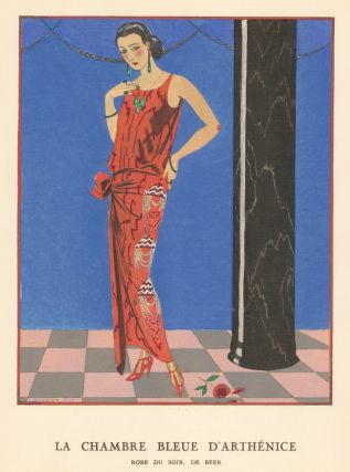 La Chambre Bleue D'Arthenice. Evening Gown. Gazette du Bon Ton. George Barbier, Gazette du Bon Ton