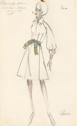 Dior Fashion Illustration. French School.