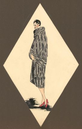 Woman in a Spotted Fur Coat. Unknown artist