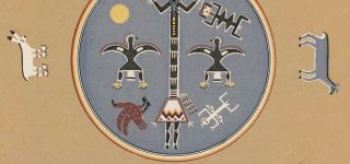 Scavenger in the Eagle's Nest (Bead Chant). Navajo Medicine Man: Sandpaintings and Legends of Miguelito.
