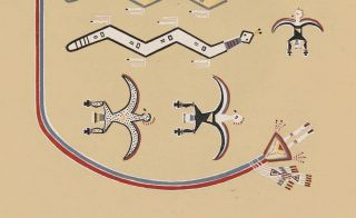 The Snakes Assist in the Ascension (Bead Chant). Navajo Medicine Man: Sandpaintings and Legends of Miguelito.