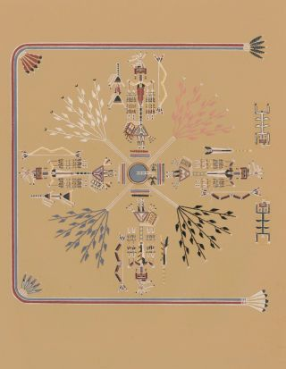 The Feathered Arrow People (Shooting Chant). Navajo Medicine Man: Sandpaintings and Legends of...