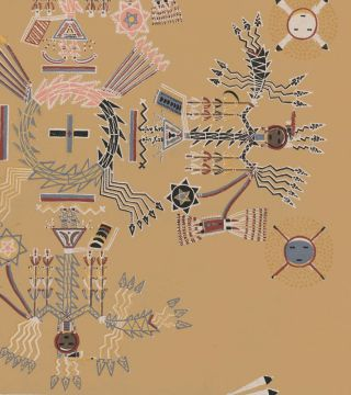 The House-of-moving-points (Shooting Chant). Navajo Medicine Man: Sandpaintings and Legends of Miguelito.