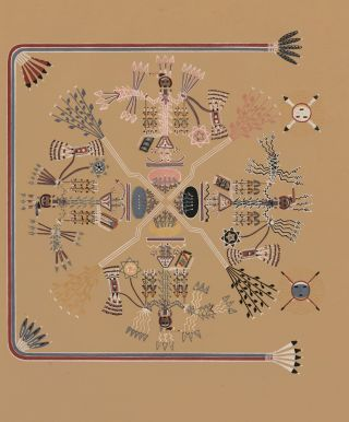 The Four Mountains (Shooting Chant). Navajo Medicine Man: Sandpaintings and Legends of Miguelito....