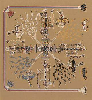 The Buffalo-who-never-dies (Shooting Chant) Navajo Medicine Man: Sandpaintings and Legends of...
