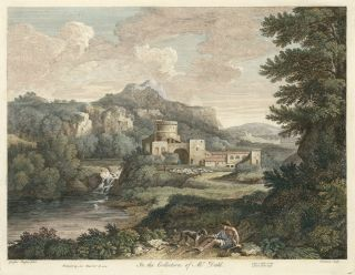 In the Collection of Mr. Dahl. Jean Baptiste after Gaspar Poussin Chatelain, Gas, European views, Knapton and Pond.