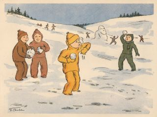 Snowball Fight. Charlie, French School