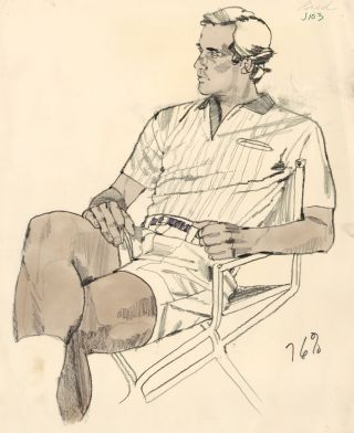 Bud, in Tennis Whites. American School
