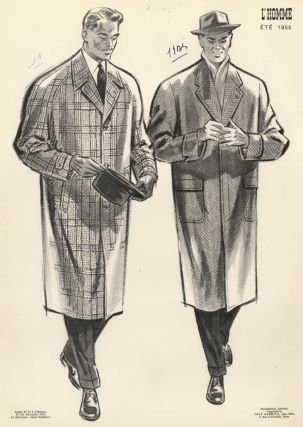 Men in Tweed Overcoats. L'Homme. Jean Darroux.