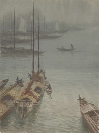 Boats in the fog. S. Tosuke