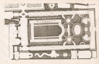 Plan du Jardin de M. Morel. George Louis Le Rouge