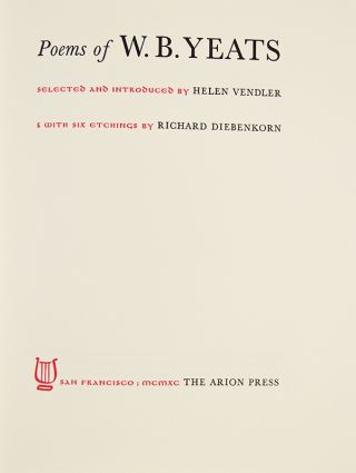 The Poems of W.B. Yeats.