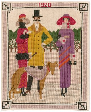 1920 Fashion Needlepoint. French School