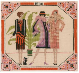 1930 Fashion Needlepoint. French School
