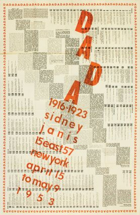 International DADA Exhibition 1916-1923. Marcel DUCHAMP
