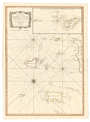 20. A General Chart of the Islands of Guernsey and Jersey. A New Universal Atlas. Thomas Kitchin