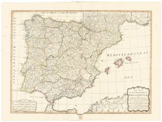 21. The Kingdoms of Spain and Portugal. A New Universal Atlas. Thomas Kitchin.
