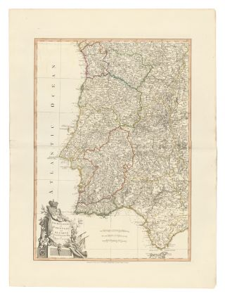 22. The Kingdoms of Portugal and Algarve. A New Universal Atlas. Thomas Kitchin
