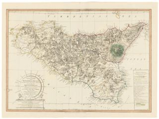 25. The Island and Kingdom of Sicily. A New Universal Atlas. Thomas Kitchin