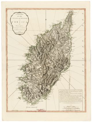 26. Island and Kingdom of Corsica. A New Universal Atlas. Thomas Kitchin