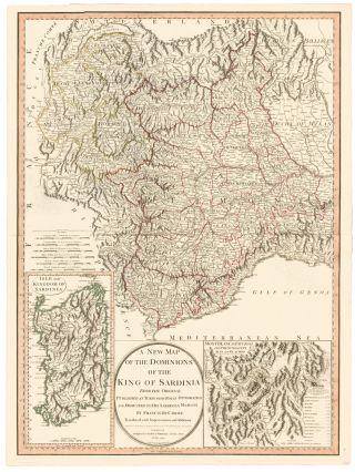 27. Dominions of the King of Sardinia. A New Universal Atlas. Thomas Kitchin.