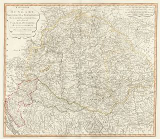 39. Kingdom of Hungary. A New Universal Atlas. Thomas Kitchin.