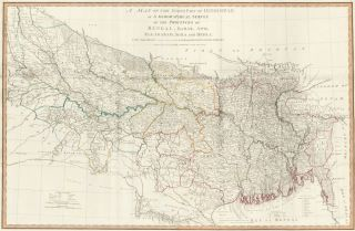 52. The North Part of Hindostan. A New Universal Atlas. Thomas Kitchin
