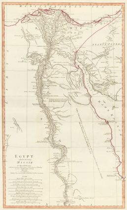 59. Egypt Called in the Country Missir. A New Universal Atlas. Thomas Kitchin