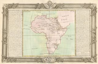 Lakes, Streams, Rivers of Africa. Géographie Moderne. Jean-Baptiste Louis Clouet