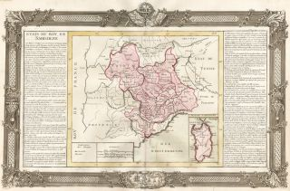 Sardinia and Northwestern Italy (including Turin and Genoa). Géographie Moderne. Jean-Baptiste...