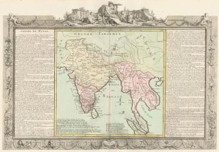 Mughal Empire (India and Southeast Asia). Géographie Moderne. Jean-Baptiste Louis Clouet