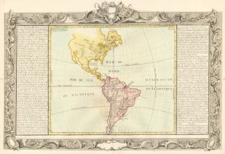 Lakes, Streams, Rivers of North & South America. Géographie Moderne. Jean-Baptiste Louis Clouet