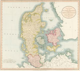 Denmark, from Cary's New Universal Atlas. John Cary