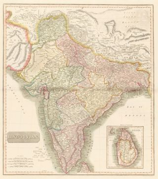 Hindoostan, from the New General Atlas. John Thomson