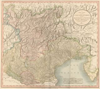 County of Tyrol and the Republic of Venice, from Cary's New Universal Atlas. John Cary