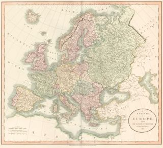 Europe, from Cary's New Universal Atlas. John Cary