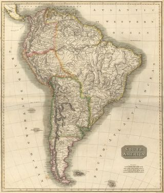 South America, from the New General Atlas. John Thomson